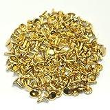 両面カシメ 大 足長 頭9mm 足11.5mm ゴールド 100個セット