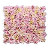 SONONIA シルク布 人工花 造花 壁パネル 結婚式用品 再利用 会場 背景装飾 壁掛け 約...
