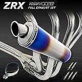 Big-One(ビッグワン) ZRX400 ZR400E マフラー バイク パーツ フルエキゾースト チタン/ステンレス製 焼色 22722