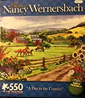 The Art of Nancy Wernersbach: A Day in the Country Puzzle - 550 Pieces By Karmin International [並行輸入品]