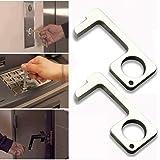 POOPEE 非接触ドアオープナー オープンドアツール エレベーターボタンを押し 二次接触防止 ドアを開けて 非接触式 ボタン触らない 携帯便利 再利用可能 出かけ 家庭用 2個セット