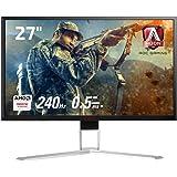 AOC ゲーミング モニター ディスプレイ AG271FZ2/11 (27インチ/FHD/TN/HDMI/応答速度0.5ms (MPRT) /3年保証/DisplayPort/240Hz/Low Input Lag/FreeSync/G-Sync/A