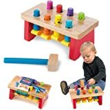 """Melissa & Doug 4490 Deluxe Pounding Bench Wooden Toy with Mallet, 10"""" x 5.25"""""""