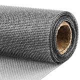 DIY網戸ネット 張替え防虫網 グラスファイバー製網戸 灰色 90cm x 3000cm