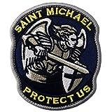 現代軍の聖ミカエルは私たちを守ります刺繍入りマジックテープワッペン