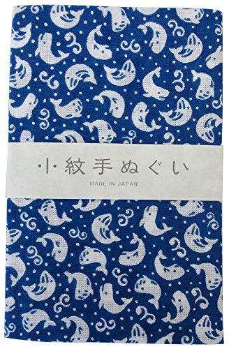 宮本 小紋手ぬぐい くじら 33×90cm 33358
