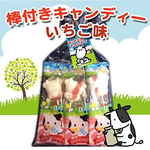 北海道の渡辺体験牧場 摩周草原 棒付きキャンディー いちご味