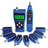 Noyafa NF388 Network Ethernet LAN Phone Tester Wire Tracker USB Coaxial Cable 8 Far-end Jacks