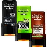 L'Oreal Paris Men Expert Shower Gel Trio - Total Clean, Clean Power, Barber Club