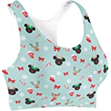 Rainbow Rules Christmas Mickey & Minnie Reindeers Disney Inspired Sports Bra