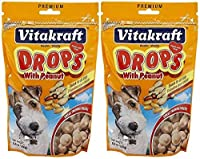 Vitakraft Peanut Drops for Dog Treat [Set of 2] [並行輸入品]