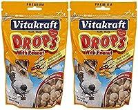 Vitakraft Peanut Drops for Dog Treat [Set of 2] [並行輸入品]