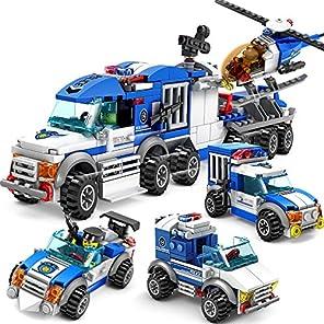 シティポリスカー4台セット合体ラージガード警察の車 レゴ (LEGO) 対応 互換
