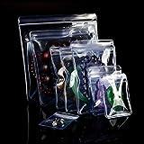 ジュエリー袋 PVCパッキング ビニール 変色防止 透明 密封 ジップロック 抗酸化 ミニ 包装袋 ラッピングポーチ チャック付き 100個 (8 x 12 cm)