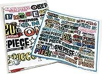 ONE PIECE ワンピース 連載20周年記念 ロゴがいっぱい フェイスタオル & ミニタオル セット ジャンプショップ 麦わらストア