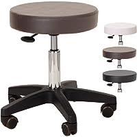 エステスツール ST 丸椅子 キャスター (ビニールレザー) 高さ43-55cm ブラウン [ スツール 診察椅子 回転…