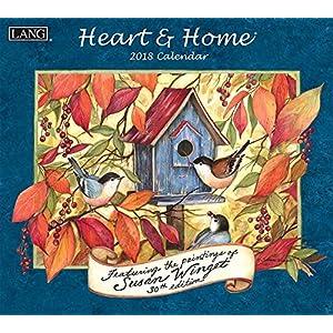 Heart & Home 2018 Calendar: Free Bonus Download 12 Images Desktop Wallpaper (Deluxe Wall)