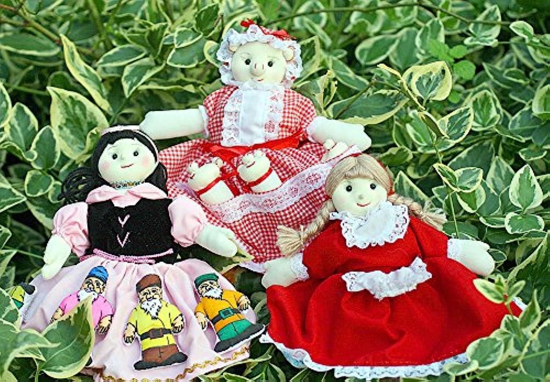 布絵本 布人形 変身人形 フリップオーバードールミニ?赤ずきん&ミニ? 3びきのこぶた&ミニ?白雪姫 人形劇の世界ギフトセット3種類組み