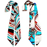 Twilly Neckerchief Scarf for Handbag Handle Silk Scarf Bracelet for Women by Bellagione