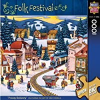 MasterPieces Frosty Delivery 1000 Piece Puzzle Folk Festival Collection by Masterpieces Puzzle Co. [並行輸入品]