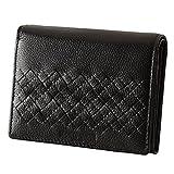 (ミチコロンドン)MICHIKO LONDON Plus2 財布 レディース 二つ折り 本革 MJ-5972 (ブラック)