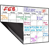 Magnetic Calendar Planner for Fridge 40x30cm, Reusable Monthly Fridge Calendar, Undated Planning Board Pad, Dry Erase with Wa