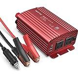 BESTEK インバーター シガーソケット コンセント 500W DC12VをAC100Vに変換 USB2ポート搭載 12V車専用 カーインバーター 車載用インバーター 赤 MRI5010BU-RD