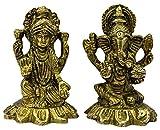THE HOLY MART 真ちゅうLaxmi Ganeshペアの像