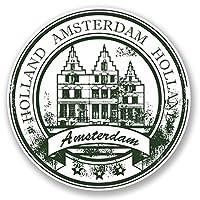 2 x 25cm アムステルダム - ノートPCやタブレット用ビニールステッカー #4528
