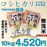 【無洗米:新米】コシヒカリ 精米済み白米5kg×2袋【平成29年・滋賀県産】