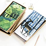 Ocamo Creative Elk in The Forest Pattern PU Leather Cover Notebook High Quality Journal Diary Book
