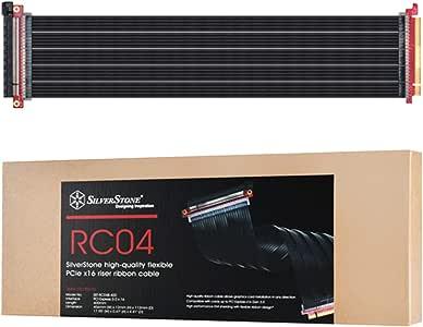 SilverStone (シルバーストーン) リボンケーブル RC04 PCIEx16対応 フルフラット ライザーケーブル SST-RC04B-400 【日本正規代理店品】