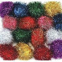 Creativity Street Glitter Poms 2 X 16-Piece Assorted [並行輸入品]