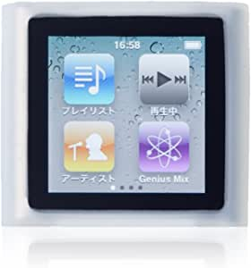 Simplism iPod nano 6th シリコンケースセット ケーブルクリップ、液晶保護フィルム付属 クリア TR-SCSNNN-CL