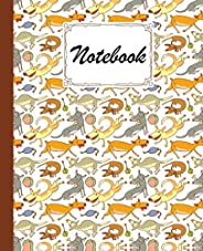"""Notebook: Dogs Composition Notebook - College Ruled 120 Pages - Large 7.5"""" x"""