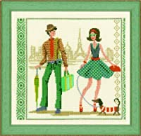 Counted Cross Stitch Kit: Vintage in Paris [並行輸入品]
