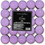 Cocodor Scented Tealight Candles/Garden Lavender / 25 Pack / 4-5 Hour Extended Burn Time/Made in Italy, Cotton Wick, Scented