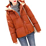 Howme-Women Thick Short Casual Fitness Winter Coat Hooded Outdoor Jacket