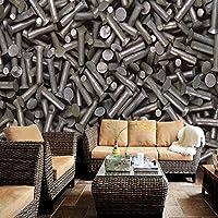 Lixiaoer カスタム壁画カスタム3Dステレオ壁画壁紙リビングルームホテルレストラン金属壁壁画-280X200Cm