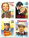 Wizard of Oz, Judy Garland, Gone with the Wind, Clark Gable, Beau Geste, Stagecoach, John Wayne Collectible US Postage Stamps by USPS [並行輸入品]