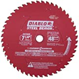 Diablo D0748CF STEEL DEMON 7 1/4 inch 48 Teeth Metal and Stainless Steel cutting Saw Blade CERMET II Carbide Up to 5X Longer