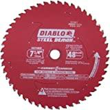 Diablo D0748CF STEEL DEMON 7 1/4 inch 48 Teeth Metal and Stainless Steel cutting Saw Blade CERMET II Carbide Up to 5X Longer