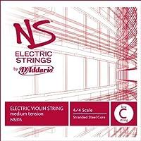 D'Addario NS Electric Violin Single Low C String 4/4 Scale Medium Tension [並行輸入品]