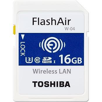 東芝 TOSHIBA W-04 FlashAir Wi-Fi SDHCカード 16GB UHS-1 U3 Class10対応 日本製 [並行輸入品]