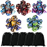 Polyhedral Dice, Dungeons and Dragons Dice Double-Colors Dice for RPG Pathfinder DND RPG MTG