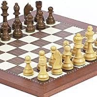 Wooden Staunton Aristocrat & Astor Place Chess Board by