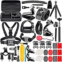 NEEWER 50-in-1 Accessory Kit for GoPro Hero 7 6 5 4 3+ 3 2 1 Hero Session 5 Black AKASO EK7000 Apeman SJ4000 5000 6000...