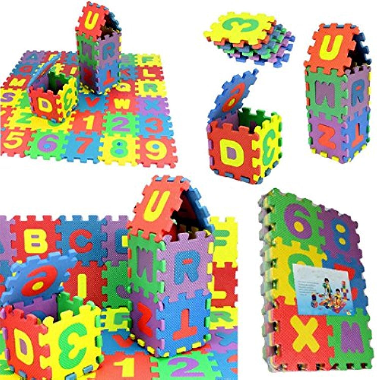 boomdan 2018 36個赤ちゃん子番号アルファベットパズルFoam数学教育玩具ギフト dfsg56+32