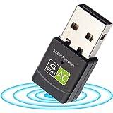 USB WiFi Adapter 600Mbps Dual Band 2.4G/5G WiFi Dongle Mini Wireless Network Adapter for PC Laptop Desktop Windows XP/Vista /
