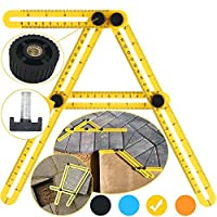 Template Tool Multi Angle Measuring Ruler - Sullos Tools Layout - Angles & Shapes Finder | With Metal Screw Threads - For Professional & General DIY Wood Tile Flooring [並行輸入品]